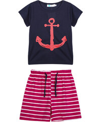 Lesara 2-teiliges Set für Kinder mit Shirt & Hose Marine - Dunkelblau - 50