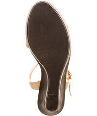 Lesara Sandalette mit Keilabsatz - Beige - 36