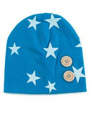 Lesara Kinder-Mütze mit Sternenmuster - Blau