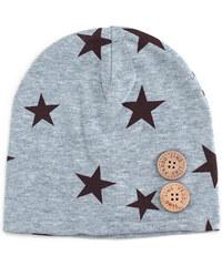 Lesara Kinder-Mütze mit Sternenmuster - Grau