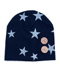 Lesara Kinder-Mütze mit Sternenmuster - Dunkelblau