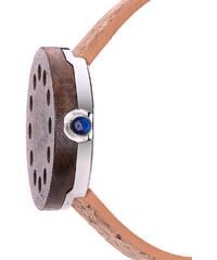 Lesara Holz-Armbanduhr mit Korkband Hole - Braun