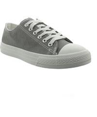 Lesara Klassischer Sneaker mit Gummikappe - Grau - 36
