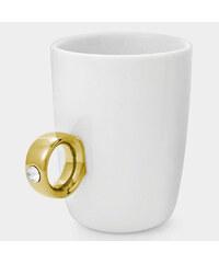 Lesara Keramiktasse Ring mit Swarovski Elements - Gold