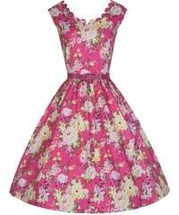 Šaty Lindy Bop Daria Pink Floral