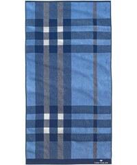 Tom Tailor Badetuch Checker mit strukturierten Karos blau 1xBadetuch 70x140 cm