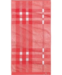 Tom Tailor Handtücher Checker mit Karos & Struktur rot 2xHandtücher 50x100 cm