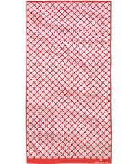 Badetuch Andrew mit Netz-Optik Tom Tailor rot 1xBadetuch 70x140 cm