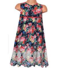 Topo Dívčí květované šaty s výšivkou - barevné