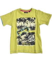 Blue Seven Chlapecké tričko s potiskem pláže - zelenožluté
