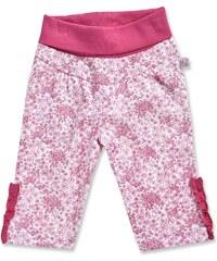 Blue Seven Dívčí květované kalhoty - růžové