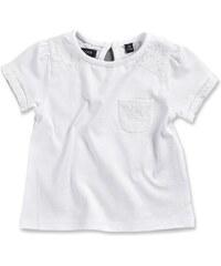 Blue Seven Dívčí tričko s krajkou - bílé