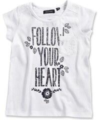 Blue Seven Dívčí tričko Follow your heart - bílé