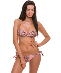 Růžové vystužené bikiny Relleciga Leopard Oz