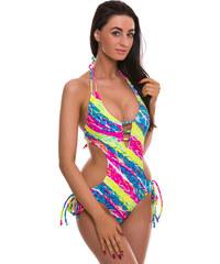 Vícebarevné vystužené plavky Relleciga Strips Oz