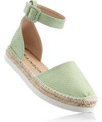 RAINBOW Espadrilles vert chaussures & accessoires - bonprix