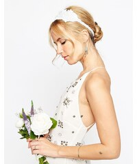 ASOS WEDDING - Blumen-Haarband mit Perlen - Weiß