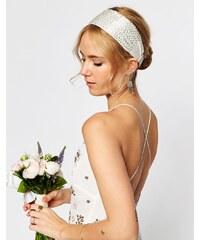 ASOS WEDDING - Haarreif mit Glasperlen - Silber