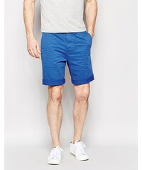 Edwin - Rail - Chino-Shorts in Karottenform aus Stretch-Satin in überfärbtem Königsblau - Blau