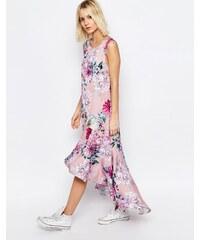 Every Cloud - Carrie - Kleid mit botanischem Blumenmuster und abfallendem Saum - Mehrfarbig