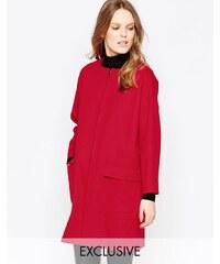 Helene Berman - Mantel mit Reißverschluss in Rot - Rot