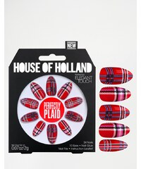 House Of Holland Nails By Elegant Touch - Perfectly Plaid - Rot
