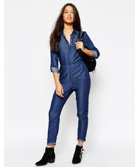 Missguided - Combinaison en jean - Bleu marine