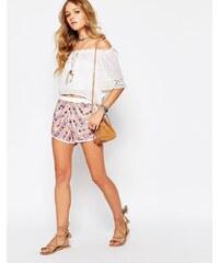 Raga - Picnic - Verzierte Shorts - Weiß