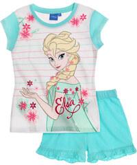 Disney Die Eiskönigin Shorty-Pyjama türkis in Größe 104 für Mädchen aus 100% Baumwolle