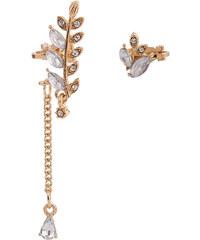 Lesara 2-teiliges Ohrschmuck-Set im floralen Design - Gold