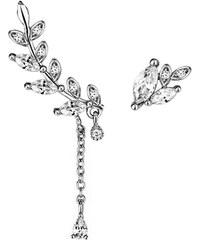 Lesara 2-teiliges Ohrschmuck-Set im floralen Design - Silber