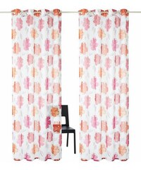 Gardine Sikato (2 Stück) MY HOME rosa 1 (H/B: 145/140 cm),2 (H/B: 175/140 cm),3 (H/B: 225/140 cm),4 (H/B: 245/140 cm),5 (H/B: 265/140 cm),6 (H/B: 295/140 cm)