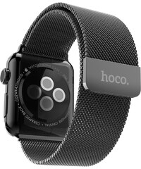Kovový pásek / řemínek pro Apple Watch 42mm - Hoco, Milanese Loop Black