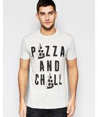 ASOS Loungewear - T-shirt décontracté coupe skateur avec imprimé - Gris