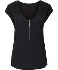 BODYFLIRT T-shirt à dentelle noir manches courtes femme - bonprix