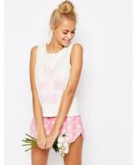 ASOS BRIDAL - Here Comes The Bride - Trägerhemd und Shorts, Pyjamaset - Mehrfarbig
