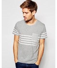 Selected Homme - T-shirt rayé style marinière - Gris