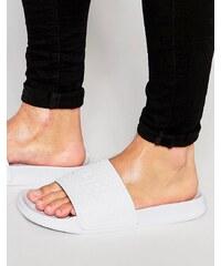 Slydes - Slider-Sandalen mit Logo - Weiß