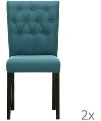 Wintech - Warehouse 3 Sada 2 židlí Monako Etna Blue, černé nohy