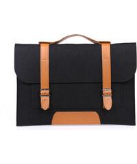 Lesara Filz-Schutzhülle für Notebooks im Schultaschen-Design - Schwarz - 13 Zoll