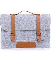 Lesara Filz-Schutzhülle für Notebooks im Schultaschen-Design - Grau - 13 Zoll