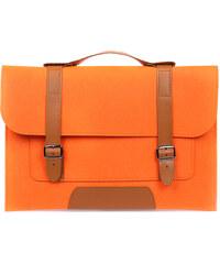 Lesara Filz-Schutzhülle für Notebooks im Schultaschen-Design - Orange - 13 Zoll