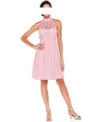 Růžové koktejlové šaty Carry Allen by Ella Singh 36 rosa