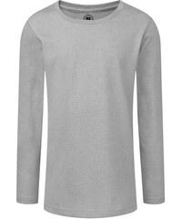 Dívčí triko s dlouhými rukávy - Stříbrná 116 (5-6)
