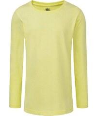 Dívčí triko s dlouhými rukávy - Žlutá 116 (5-6)