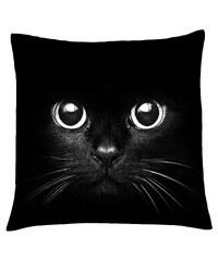 Polštář s motivem kočky 01, černá, Mybesthome 40x40 cm Varianta: Povlak na polštář, 40x40 cm
