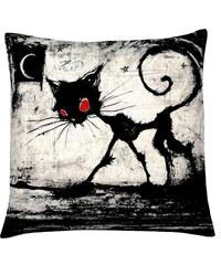 Polštář s motivem kočky 21, černobílá, Mybesthome 40x40 cm Varianta: Povlak na polštář, 40x40 cm