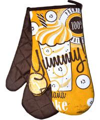 Kuchyňské rukavice chňapky RETRO 18x30 cm banán vzor retro styl Essex