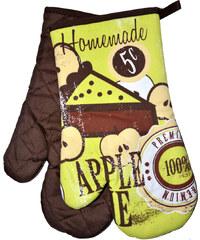 Kuchyňské rukavice chňapky RETRO 18x30 cm jablko vzor retro styl Essex