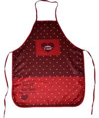 Kuchyňské zástěry SWEET KITCHEN 60x75 cm, červená, vzor srdce Essex